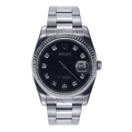 Rolex Date Just - Fluted Bezel - Oyster Band Diamond Dial 36mm