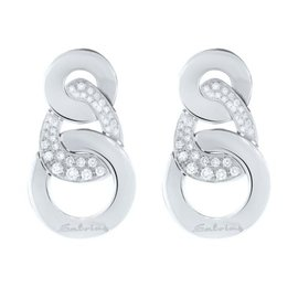 Salvini 18K White Gold and Diamond Earrings