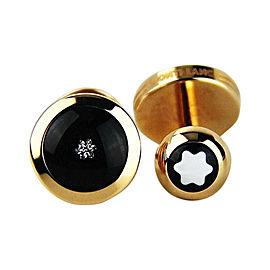 Montblanc 18K Red Gold & 0.10ct Diamond Cufflinks