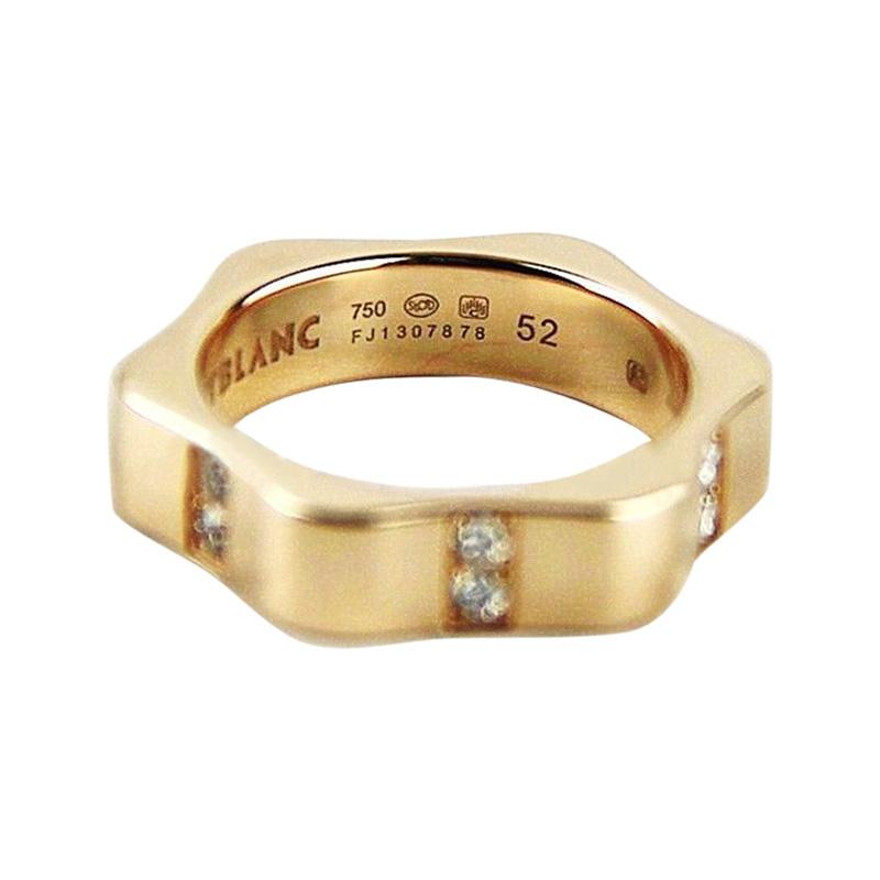 """Image of """"Montblanc 18K Rose Gold & Diamond Star Ring Size U.s. 6 ; EU 52"""""""