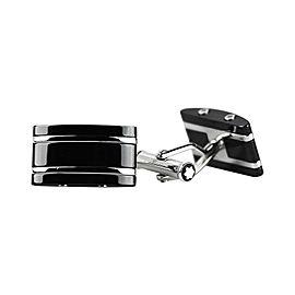 Montblanc Sterling Silver Black Ceramic Cufflinks