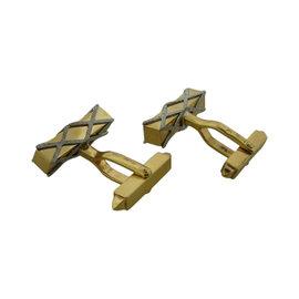 Cartier Two-Tone Gold Cufflinks