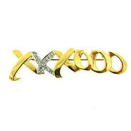 Tiffany & Co. T&Co. Original 18K Yellow Gold Diamond Xoxo Brooch