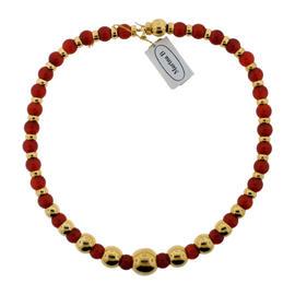 Marina B 18k Yellow Gold & Cornelian Necklace