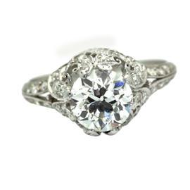 Vintage Tiffany & Co. 1920s Platinum Solitaire Diamond Ring
