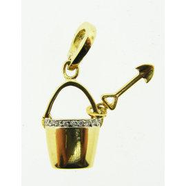 Roberto Coin 18K Yellow Gold Diamond & Ruby Bucket & Shovel Pendant