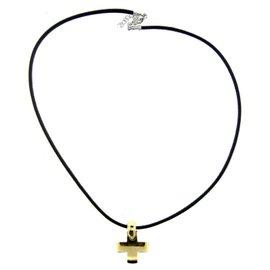 Pomellato 18K Yellow Gold Cross Necklace