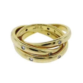 Cartier Trinity 18K Yellow Gold & Diamond Ring