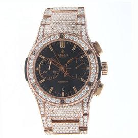 Hublot Classic Fusion Chronograph Rose Gold Diamonds 521.OX.1180.OX Watch 45mm