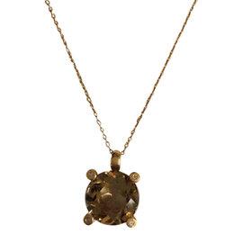 Bliss by Damiani 'Pastelli' 18K Yellow Gold Diamond Quartz Necklace