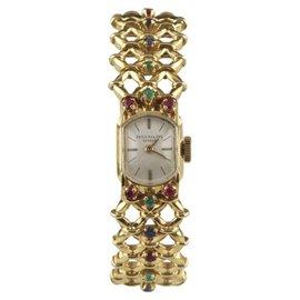 Patek Philippe 18K Yellow Gold Hand-Winding With Ornate Gubelin Band Vintatge Womens Watch