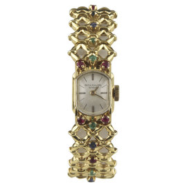Patek Philippe 18K Yellow Gold w/ Ornate Gubelin Band Hand-Winding Vintage 13mm Womens Watch