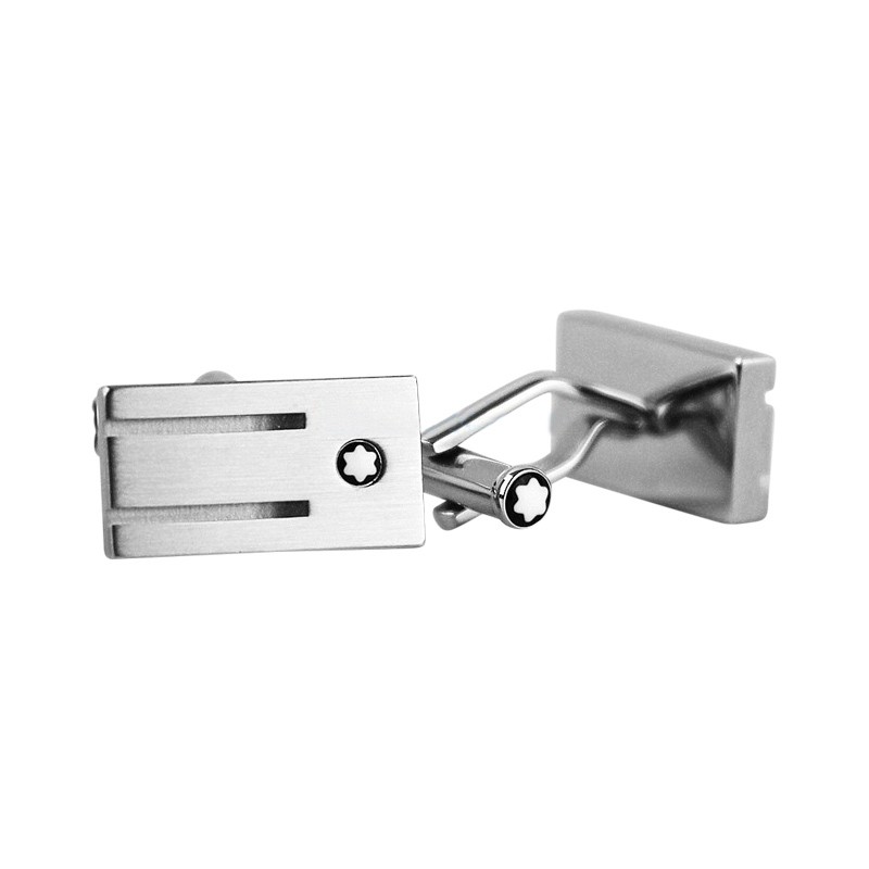 "Image of ""Montblanc Stainless Steel Rings Cufflinks"""