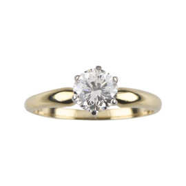 18k Yellow Gold 1.01ct Diamond Solitaire Engagement Ring Size 6.25