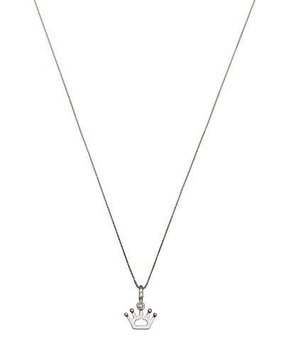 "Image of ""Bliss by Damiani 18K White Gold Crown Necklace"""