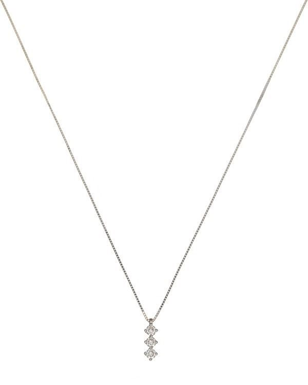 "Image of ""Bliss by Damiani 18K White Gold 'Primo Amore Ext' Diamond Necklace"""