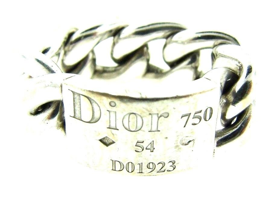"Image of ""Christian Dior 18K White Gold Link Ring"""