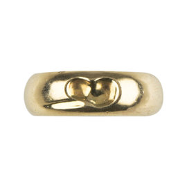 Tiffany & Co. 925 Sterling Silver Vermeil Elsa Peretti Carved Heart Band Ring