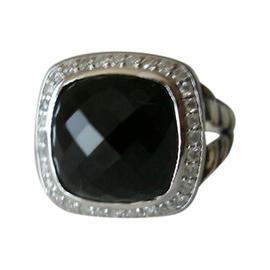 David Yurman Black Onyx Albion Diamond Ring