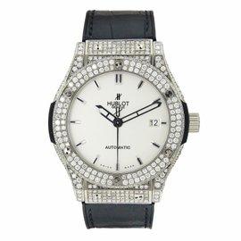 Hublot 511.NX.2610.LR Classic Fusion Titanium White Dial 45mm Watch