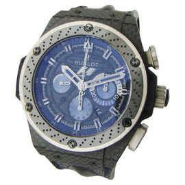 Hublot King Power F1 Interlagos Carbon Fiber / Crocodile Leather 48mm Mens Watch