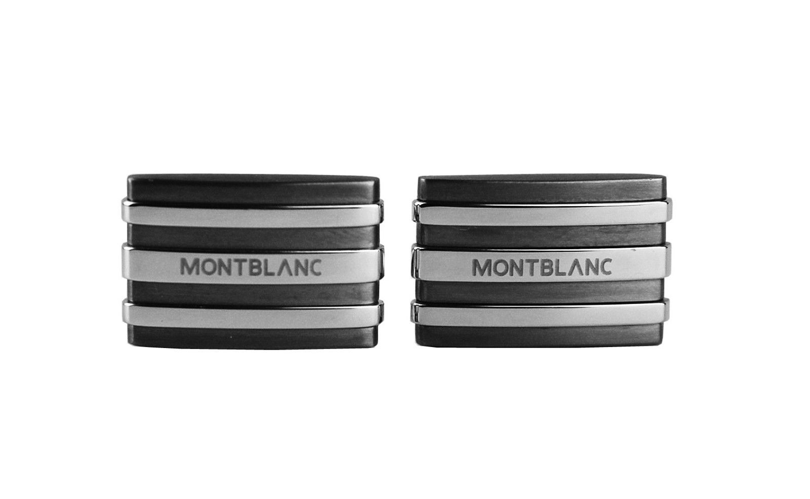 "Image of ""Montblanc Stainless Steel & Tantalum Cufflinks"""