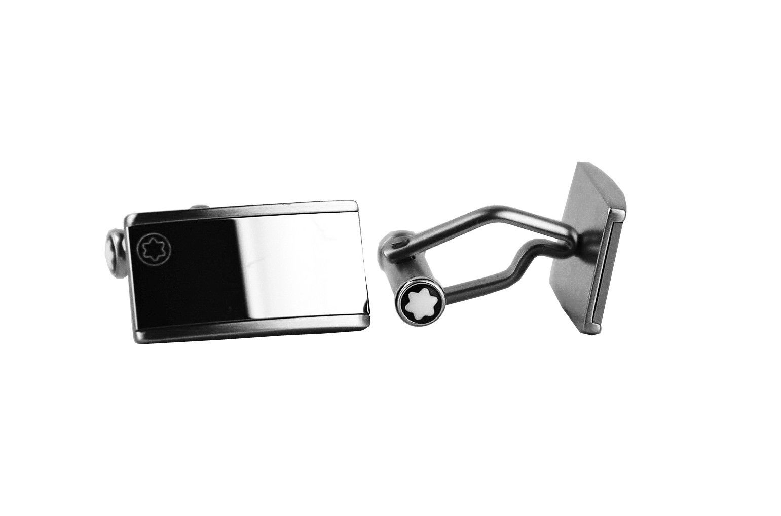 "Image of ""Montblanc Stainless Steel With Tungsten Inlay Cufflinks"""