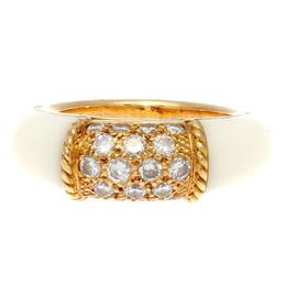 Van Cleef & Arpels Yellow Gold White Coral Diamond Philippine Ring