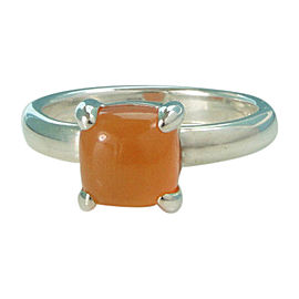 Tiffany & Co. Sterling Silver & Carnelian Ring