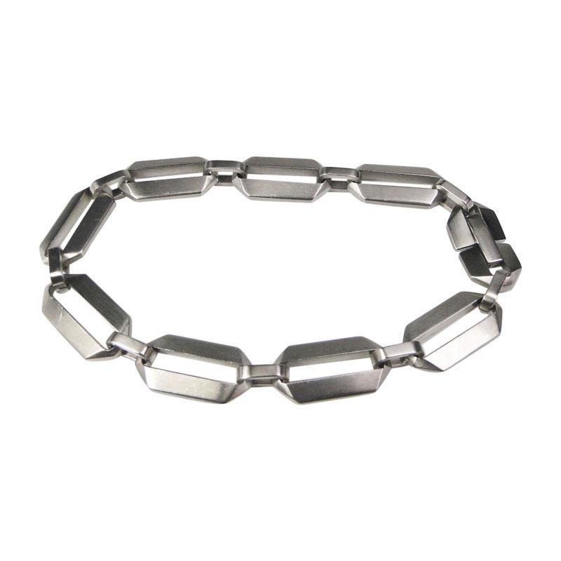"Image of ""Tiffany & Co. Picasso Zellige Steel Link Razor Style Bracelet"""