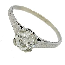 18K White Gold 1.02ct Solitaire Diamond Engagement Ring Size 7.25