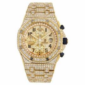 Audemars Piguet Royal Oak Offshore 18K Yellow Gold Diamond 42mm Watch