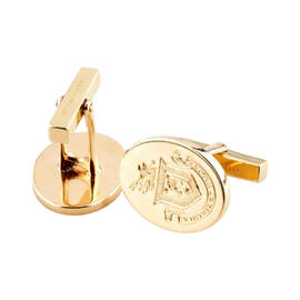 Tiffany & Co. 14K Yellow Gold Coat of Arms Engraved Cufflinks