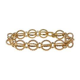 Tiffany & Co. Schlumberger 18K Yellow Gold Circle Rope Bracelet