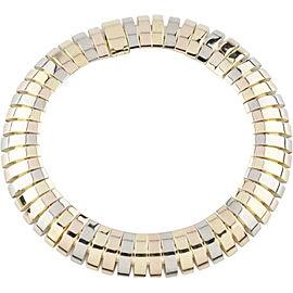 Cartier 18K Tri-Color Gas Pipe Style Bracelet Size 8