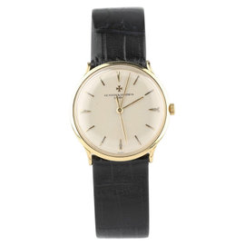 Vacheron Constantin 18K Yellow Gold & Leather 33mm Watch
