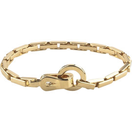 Cartier 18K Yellow Gold Agrafe Bracelet 7.25