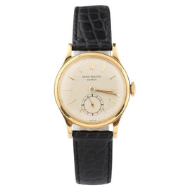Patek Philippe Calatrava 1491 18K Gold With Champagne Dial Vintage Mens Watch