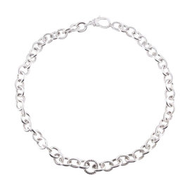 Judith Ripka Sterling Silver Rolo Chain Link Necklace