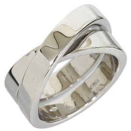 Cartier 18K White Gold Band Ring Size 5.75