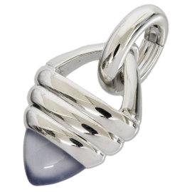 Boucheron 18K White Gold Color Stone Design Top Charm Pendant