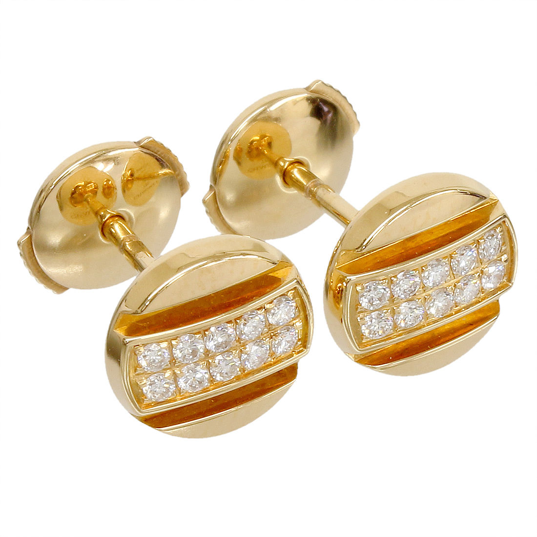 "Image of ""Chaumet 18K Rose Gold & Diamonds Earrings"""