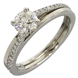 De Beers 950 Platinum Diamond Ring Size 4.5