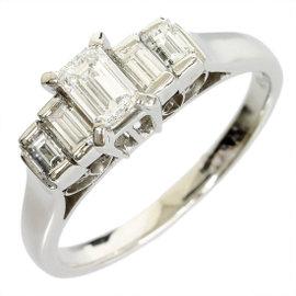 Mikimoto Pt900 Platinum 0.27ct Diamond Ring 5.75