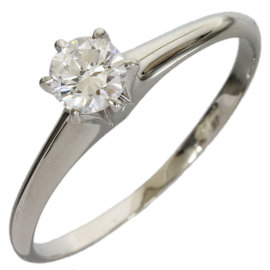 Mikimoto Pt950 Platinum 0.39ct Solitaire Diamond Ring Size 8.25