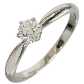Mikimoto Platinum 0.31ct Diamond Solitaire Ring Size 6