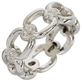 Mikimoto 18K White Gold 0.16 Ct Diamond Ring Size 6