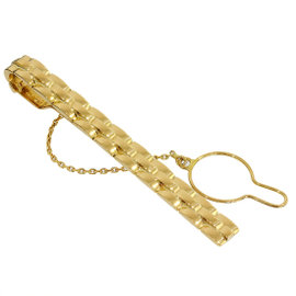 Cartier 18K Yellow Gold Maillon Panthere Necktie Clip / Tie Pin