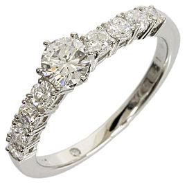 Ponte Vecchio 900 Platinum 0.338ct. Diamond Ring Size 5.5
