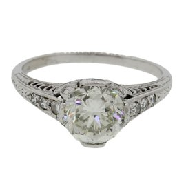 Platinum With 1.50ct Diamond Engagement Ring